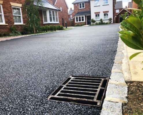 Gulley drain connecting to soakaway